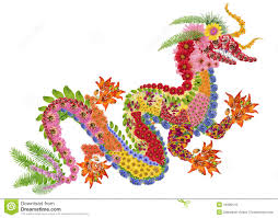 chinese dragon made of flowers royalty free stock image image