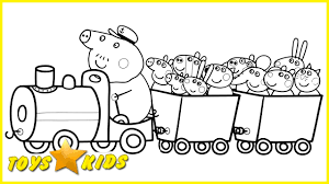 peppa pig coloring pages and friends in train coloring book fun