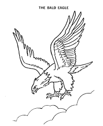 american bald eagle american symbols coloring pages