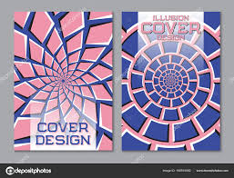 pink color scheme blue pink color scheme book cover design template with optical
