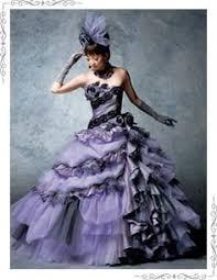 nightmare before inspired wedding dress