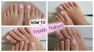 diy french pedicure tutorial youtube
