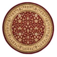 Red Round Rug 5 Foot Round Rugs Roselawnlutheran