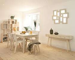White Mango Dining Table Solid Wood Kitchen Table - White and wood kitchen table