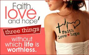 tattoo meanings and symbols faith love hope u0027 tattoo meaning and design ideas