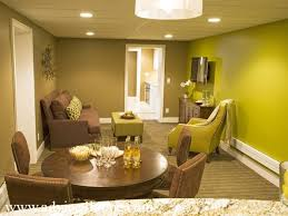 Dark Brown Sofa by Brown Sofa And Green Gray Wall In Modern Living Room