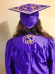 monogram graduation cap monogrammed graduation gown by kellygrams monograms