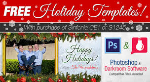 free holiday card templates with purchase of sinfonia ce1 printer