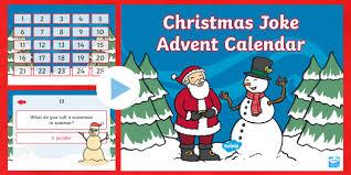 christmas joke advent calendar powerpoint calendar advent
