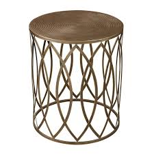 Antique Accent Table Antique Gold Finish Metal Accent Table Free Shipping Today