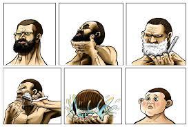Meme Beard Guy - beard shaving comic parodies know your meme
