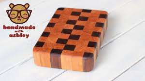 how to make an end grain cutting board from scraps handmade with step by step instructions on how to make a beautiful end grain cutting board from walnut and cherry perfect homemade gift for any special occasion