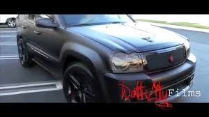 matte blue jeep cherokee larry hernandez flat black srt 8 twin turbo grand cherokee