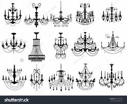 Classic Chandelier by Classic Chandelier Set Collection Luxury Decor Stock Vector