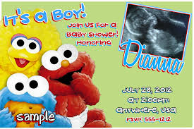 sesame street baby shower invitations theruntime com