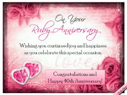 Wedding Day Wishes For Card Ruby Anniversary Wishes Free Milestones Ecards Greeting Cards