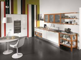 Interior Design Ideas For Kitchen Color Schemes Interior Handsome Modern Kitchen Decoration Using All White