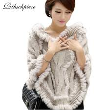 sweater with faux fur collar rihschpiece 2017 winter faux fur poncho sweater pullover hoodies