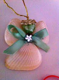 christmas shell angel ornaments kids crafts craft ideas i like