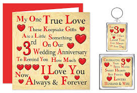 6 year anniversary gift ideas for our 3rd wedding anniversary gift set card keyring fridge