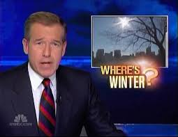 nbc uses warm weather during most winter to promote