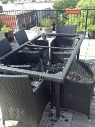 replace glass patio table top with wood dining table coffee table glass replacement ideas tops problem