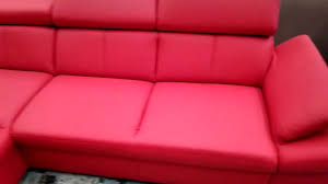 Red Leather Chair Red Leather Sofa With Chaise Longue Youtube