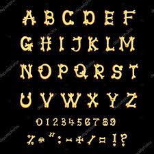 halloween background funny latin alphabet set of letters from bones in halloween funny