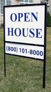 real estate yard sign w dual display areas