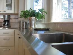 kitchen counter ideas stylish metal kitchen countertop ideas giving industrial look to