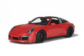 red porsche 911 porsche 911 991 targa 4 gts red model car ready made gt spirit 1