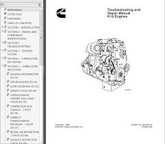 cummins k19 series diesel engine troubleshooting and repair manual