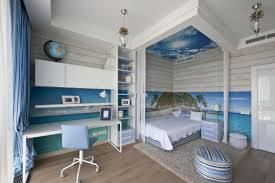 beach themed master bedroom cream wall paint color covered bed