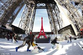 How To Build A Ice Rink In Your Backyard Eiffel Tower Opens Ice Skating Rink 200 Feet Off The Ground
