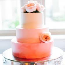 peach ombre wedding cake ombre wedding cake weddinggawker