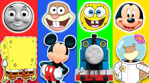 wrong face thomas the tank engine friends mickey mouse spongebob