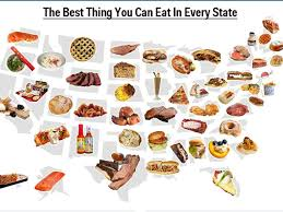 America States Map by Map Best Food In Every State Business Insider