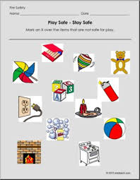 fire safety play safe safe and not safe fire safety