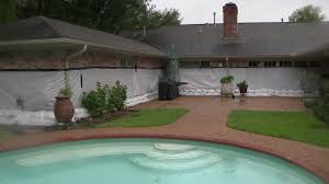 Precision Pools Houston by How Did The Houston Home Secured In Plastic Wrap Hold Up