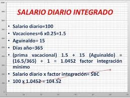 cmo calcular el salario diario integrado con sueldo los elementos del costo de producción