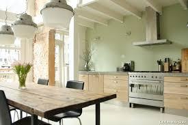 cuisine en bois clair cuisine bois clair with contemporain espaces décoration de la