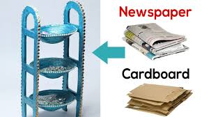 how to make desk organizer with newspaper u0026 cardboard waste