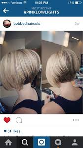 show pictures of a haircut called a stacked bob stacked inverted bob with pink low lights inverted bob