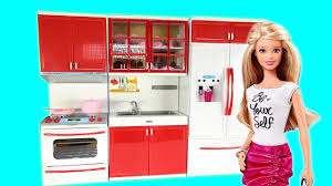 hello kitty modern kitchen set cooking kitchen fridge oven toy set with barbie for children youtube