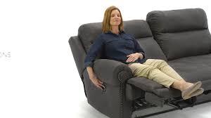 austere power reclining sofa ashley homestore austere power reclining sofa youtube