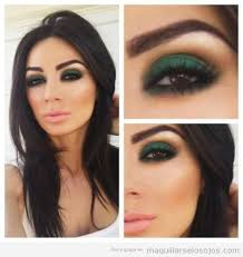 brown eyes wow it is amazing how well this makeup powered by one dark green eye shadow smoked