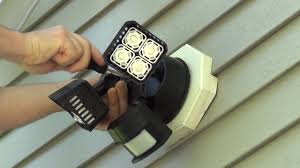 how to install security light how to install a floodlight or security light youtube