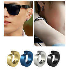 cartilage earrings men titanium cuff fashion earrings ebay