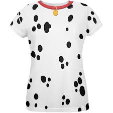 Dalmatian Costume Dog Dalmatian Costume Red Collar All Over Womens T Shirt Walmart Com