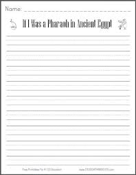 if i was a pharaoh in ancient egypt free printable k 3 writing